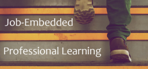 Job-Embedded Professional Learning with student feet climbing stairs